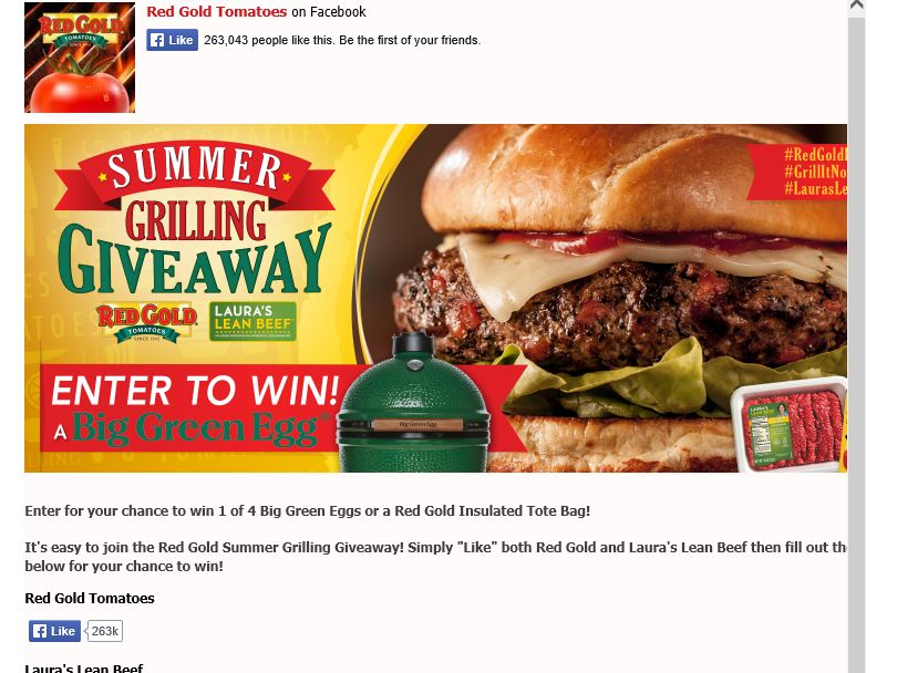 The Red Gold Summer Grilling Giveaway Sweepstakes