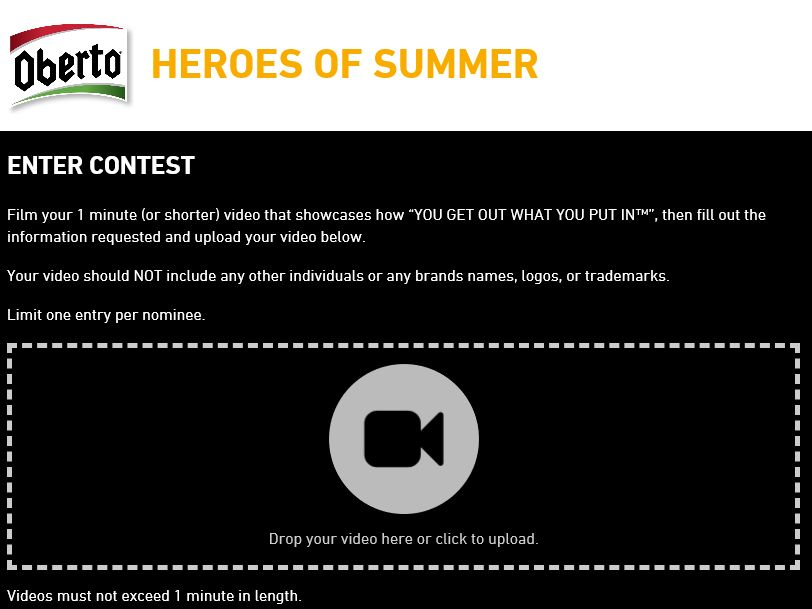 "The Oberto ""Heroes of Summer"" Contest"