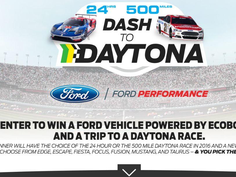 The Dash to Daytona Sweepstakes