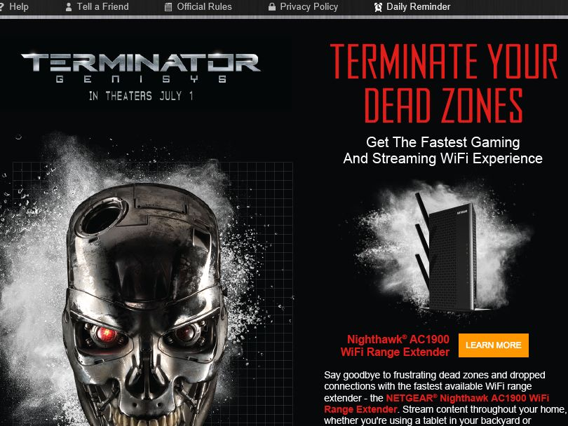 """The NETGEAR """"Terminate Your Dead Zones"""" Sweepstakes"""