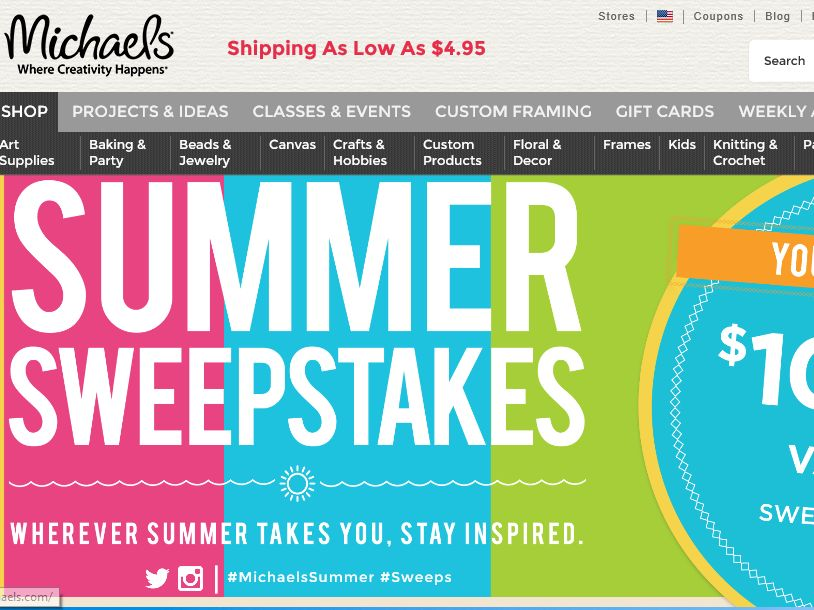 The Michaels Summer Sweepstakes