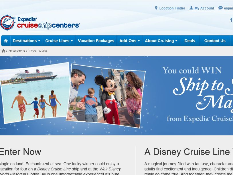 "The CruiseShipCenters International Inc. ""Dream Come True Vacation"" Sweepstakes"