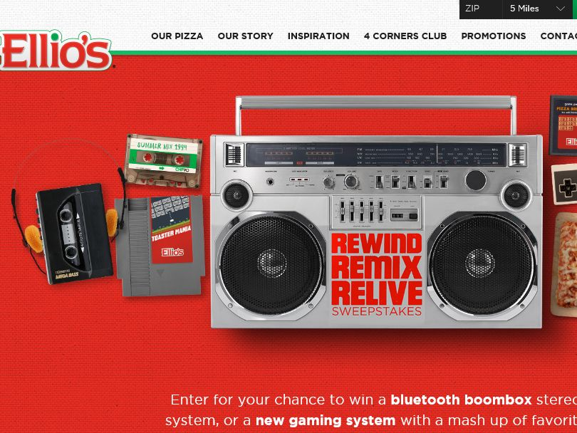 Ellio's Rewind. Remix. Relive. Sweepstakes – Select States