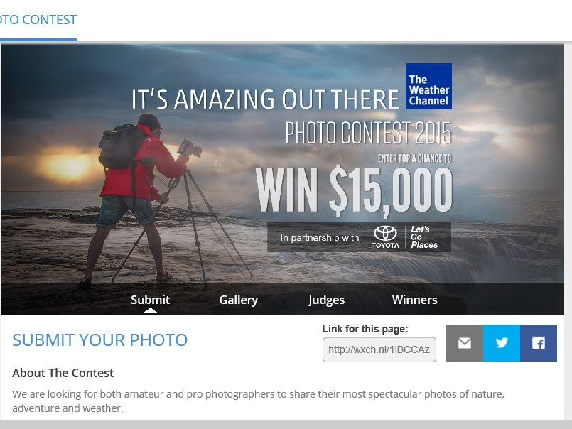 The Weather Channel It's Amazing Out There Photo Contest