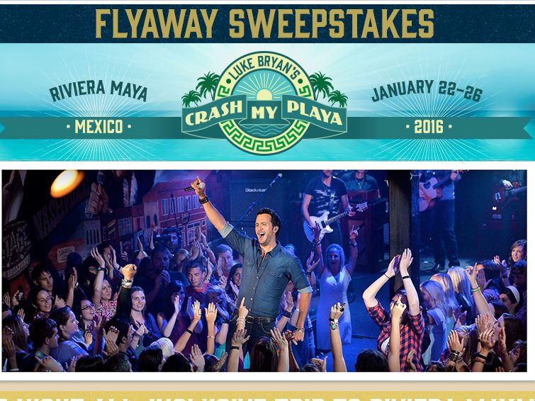 The Luke Bryan Crash My Playa Sweepstakes