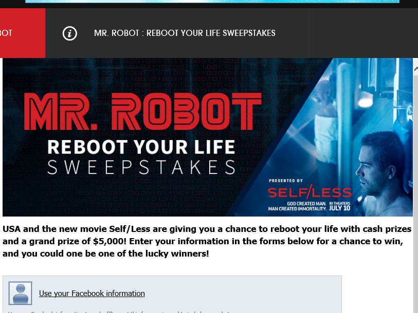 The USA REBOOT YOUR LIFE Sweepstakes