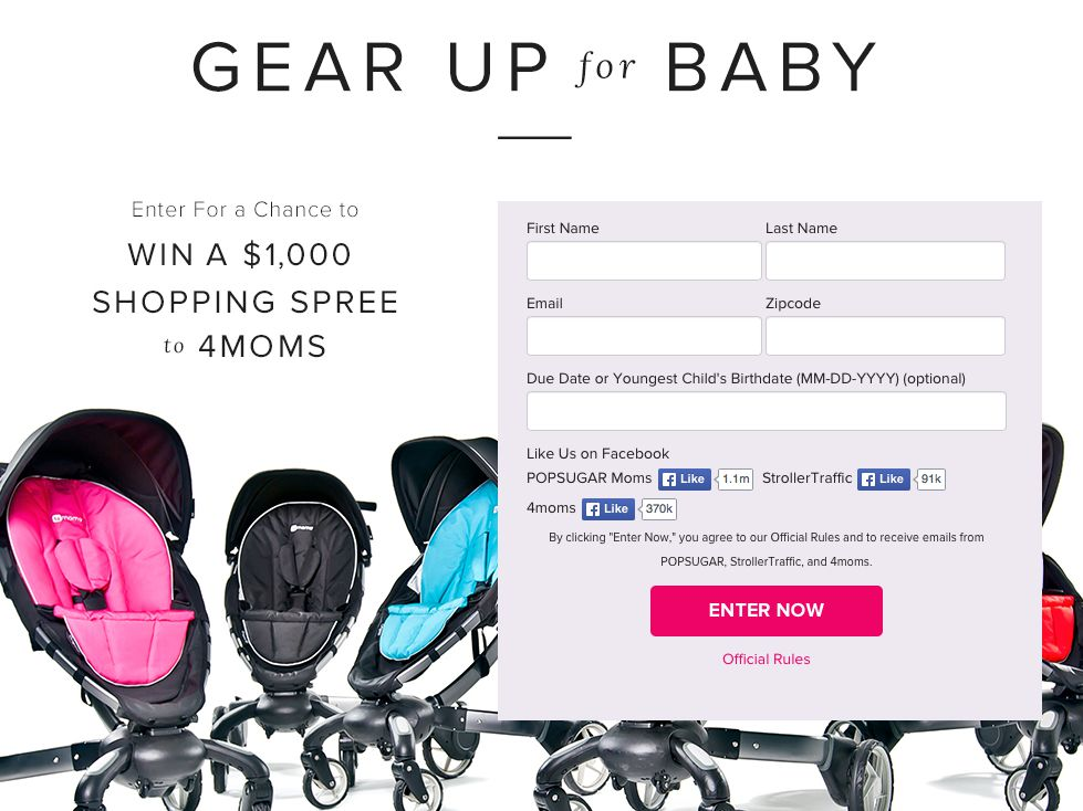 Gear Up for Baby $1,000 Sweepstakes