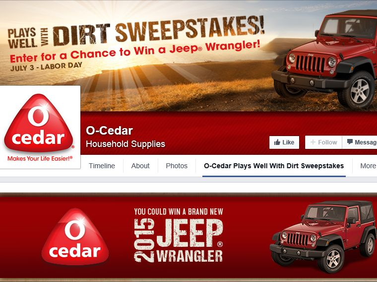 O-Cedar Plays Well With Dirt Sweepstakes