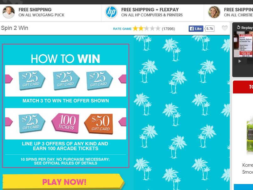 HSN Spin 2 Win Sweepstakes