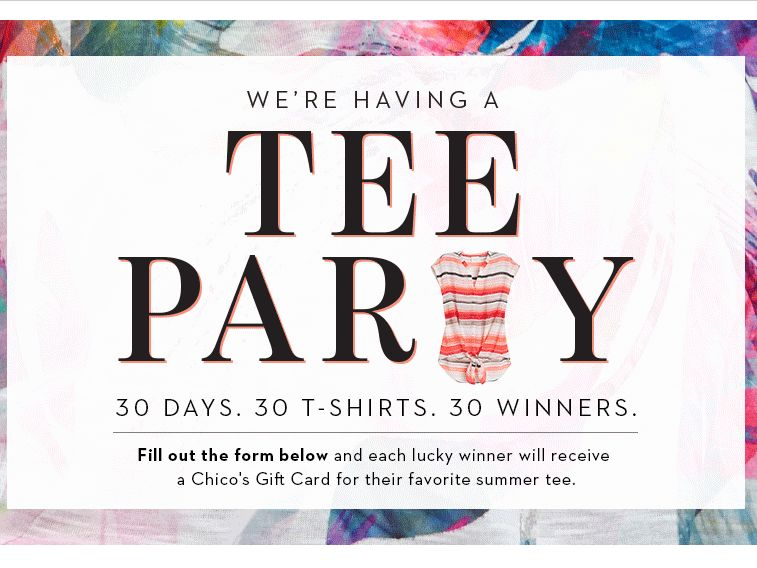 Chico's We're Having a Tee Party Giveaway