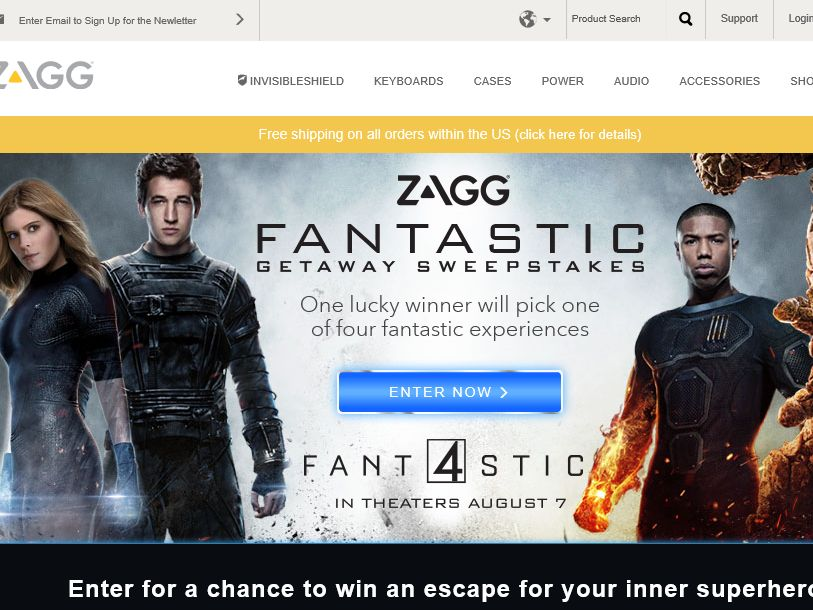 "The ZAGG ""Four Fantastic Destinations"" Sweepstakes"