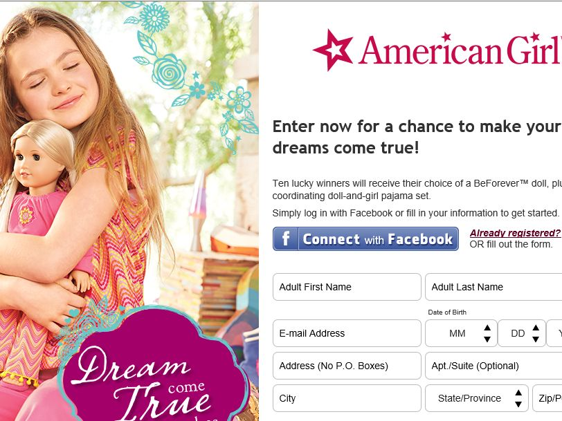 American Girl Dream Come True Sweepstakes