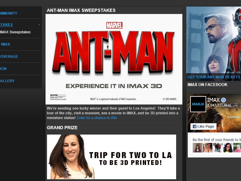 The Ant-Man IMAX Sweepstakes