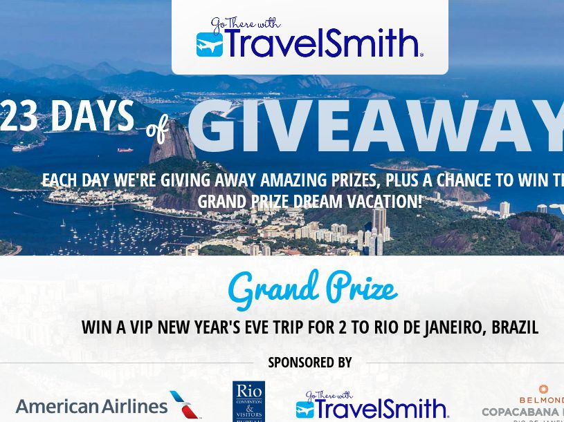 TravelSmith 23rd Anniversary Sweepstakes