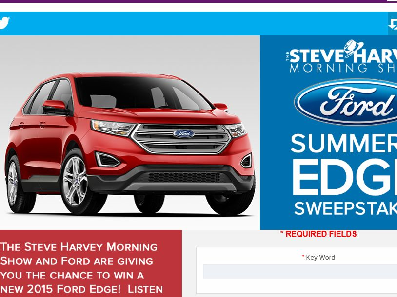 steve harvey sweepstakes the steve harvey morning show s summer s edge sweepstakes 8321