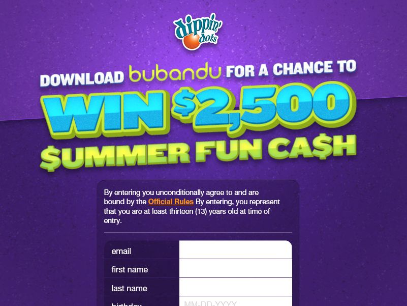 The DIPPIN' DOTS Summer Fun Cash Sweepstakes