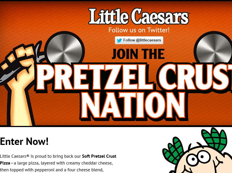 Little Caesars Join the Pretzel Crust Nation Sweepstakes