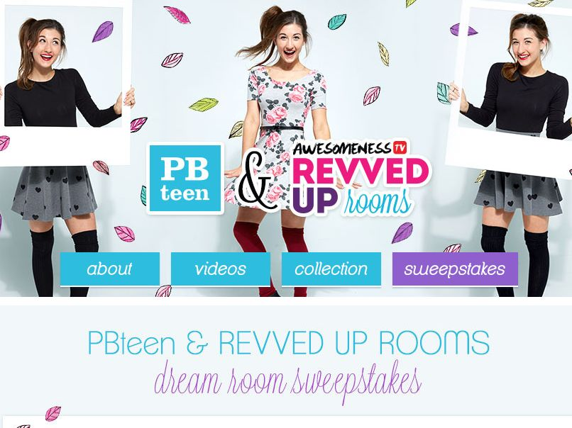 The 2015 PBteen & Revved Up Rooms Dream Room Sweepstakes