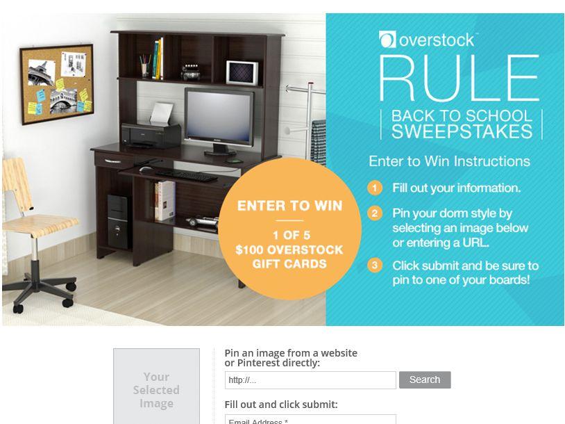 "Overstock.com's ""Rule Back to School"" Sweepstakes"