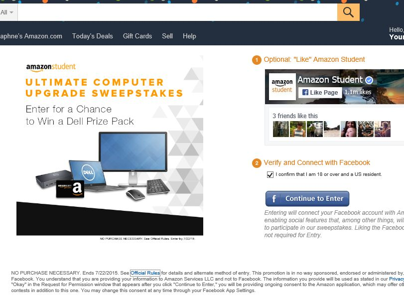 The Amazon Student Ultimate Computer Upgrade Sweepstakes