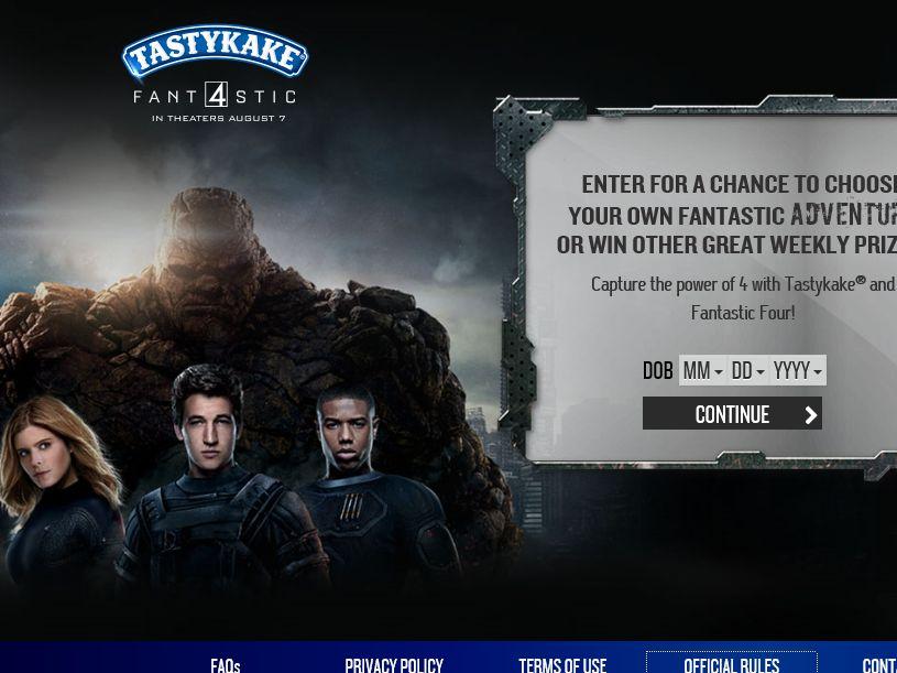 The Tastykake Fantastic Four Sweepstakes