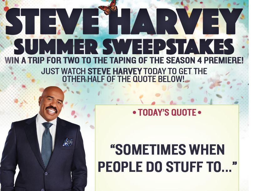 Steve Harvey Summer Sweepstakes