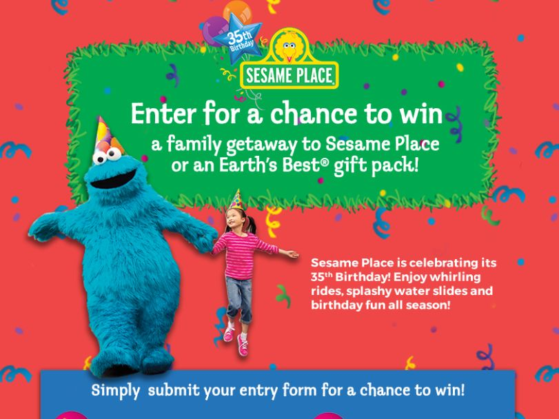 The Earth's Best Sesame Place 35th Birthday Sweepstakes
