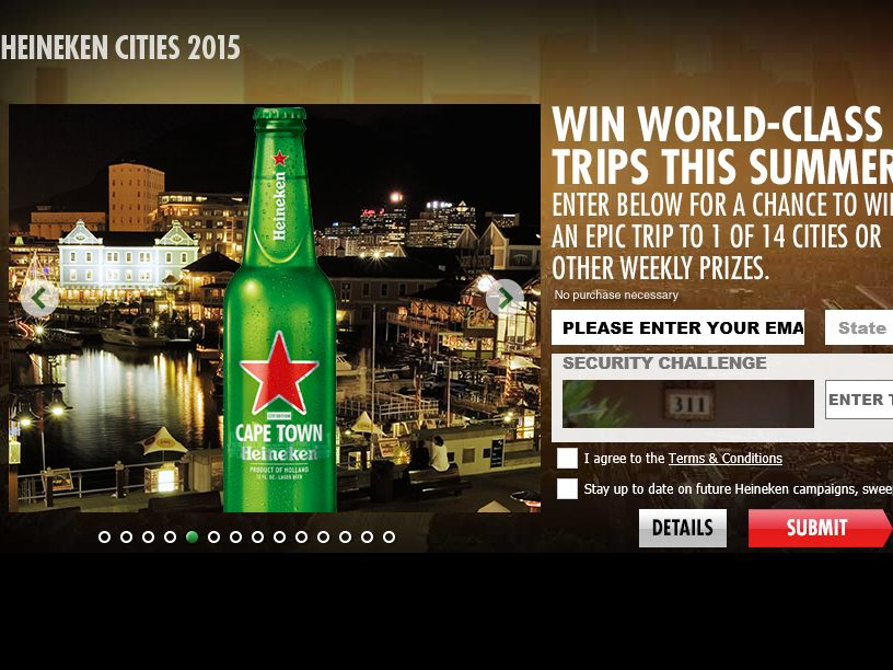 The Heineken Cities of the World Sweepstakes