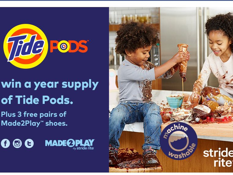STRIDE RITE Made2Play Mess Sweepstakes