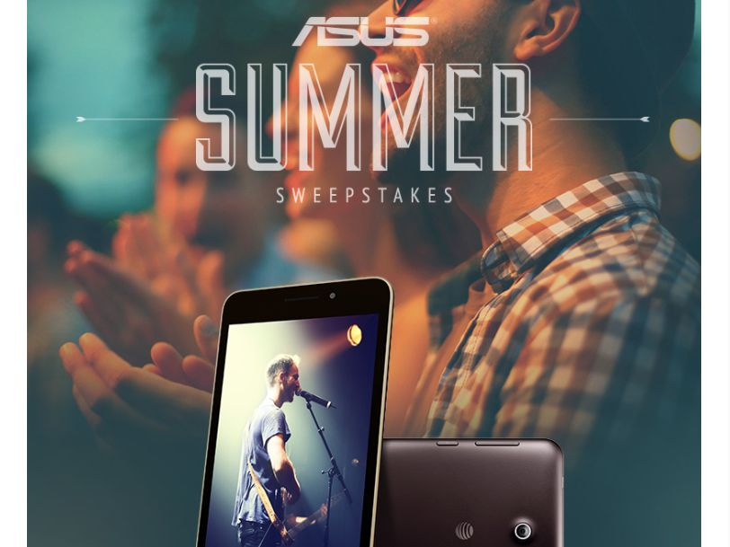 """ASUS """"MeMO Pad 7 LTE Giveaway Summer Fun On-The-Go"""" Sweepstakes"""