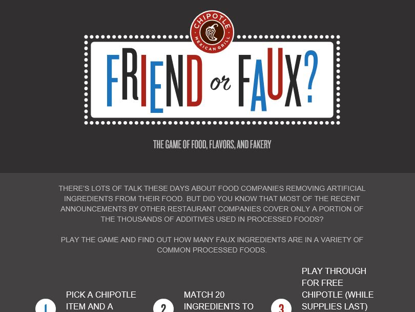 The Chipotle Friend or Faux Sweepstakes