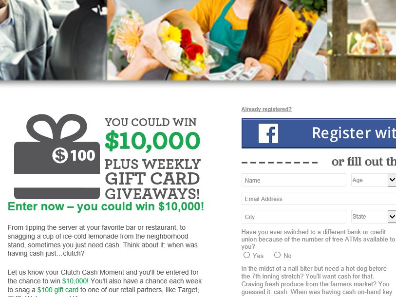 AllPoint Clutch Cash Moments Sweepstakes