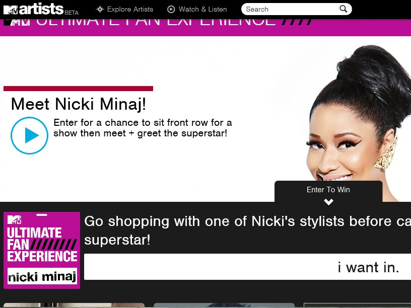 The MTV Nicki Minaj Ultimate Fan Sweepstakes