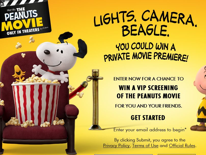 The Peanuts Movie Sweepstakes