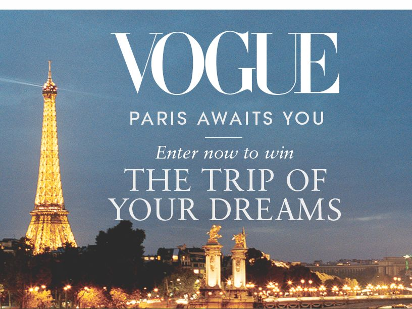 Vogue Paris Couture 2015 Sweepstakes