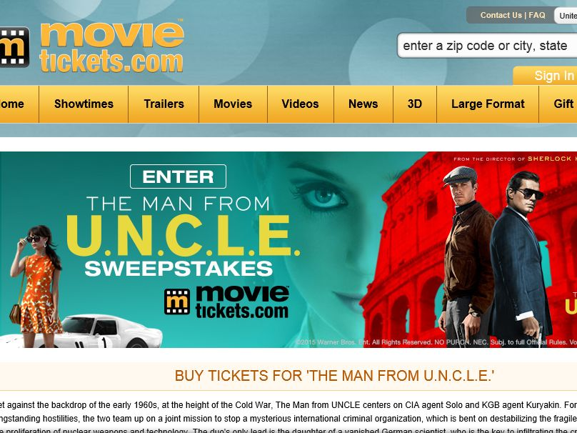 """MovieTickets.com's """"The Man from U.N.C.L.E."""" Sweepstakes"""