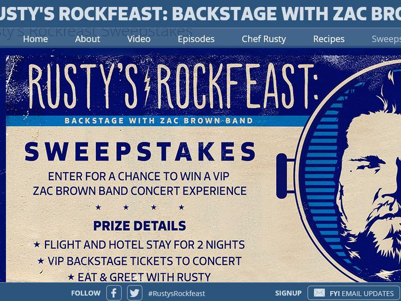 Rusty's Rock Feast Sweepstakes