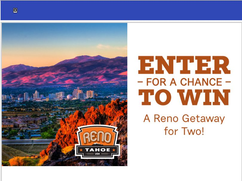 Reno Getaway for Two Sweepstakes