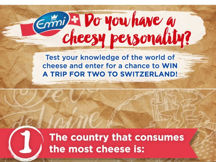 The Cheese Personality Quiz Sweepstakes