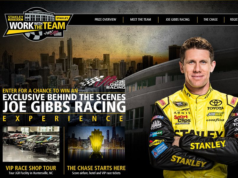 The Stanley Tools 2015 Work With The Team Sweepstakes