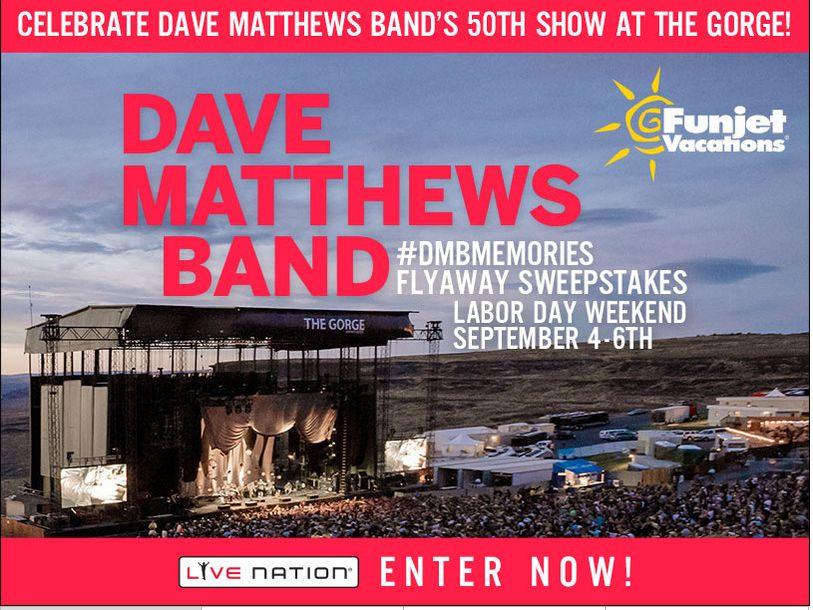 The Dave Matthews Band #DMBMemories Flyaway Sweepstakes