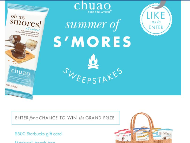 """Chuao Chocolatier """"The Summer of S'mores"""" Sweepstakes"""