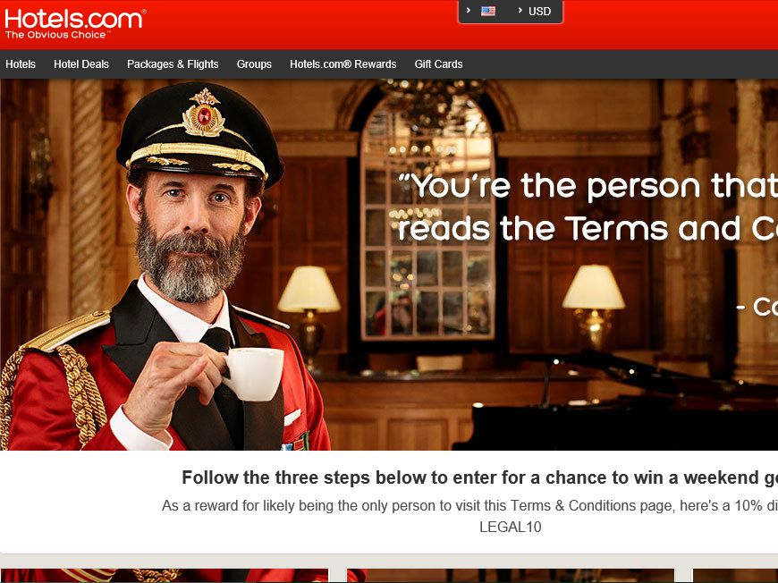 """Captain Obvious """"I Read the Legal"""" Sweepstakes"""