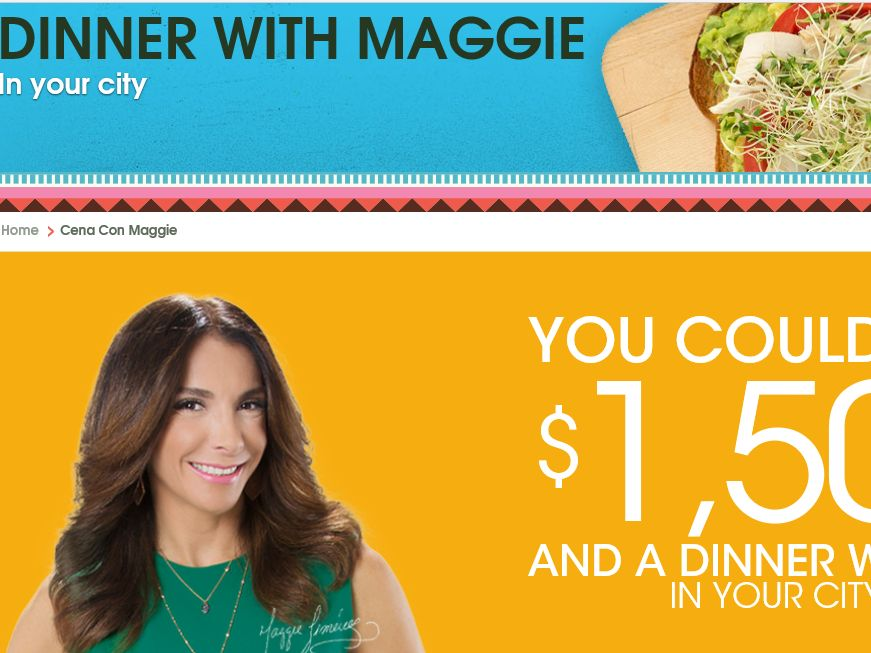 Avocados From Mexico: Dinner with Maggie Jimenez Sweepstakes