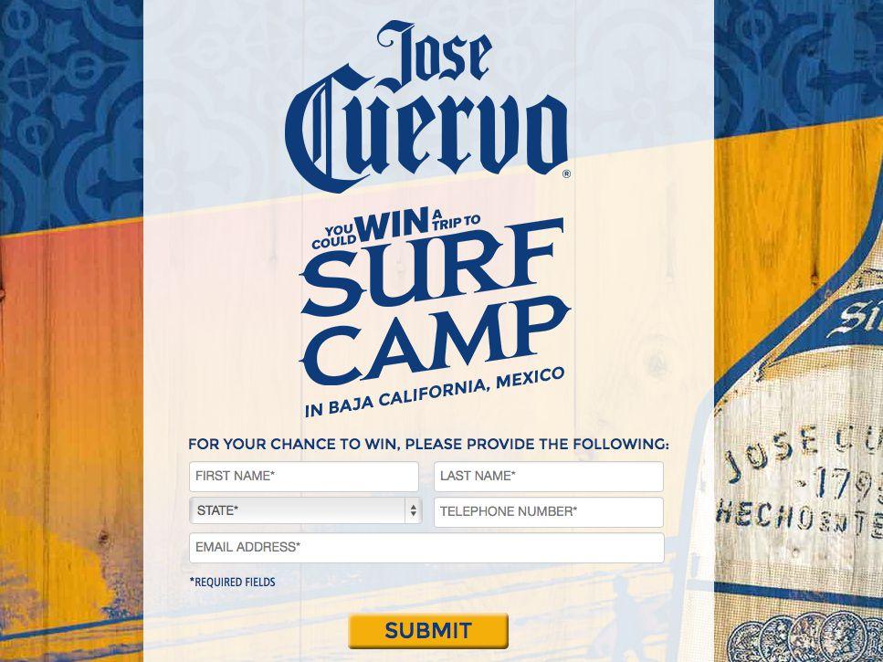 Jose Cuervo® Surf Camp Sweepstakes