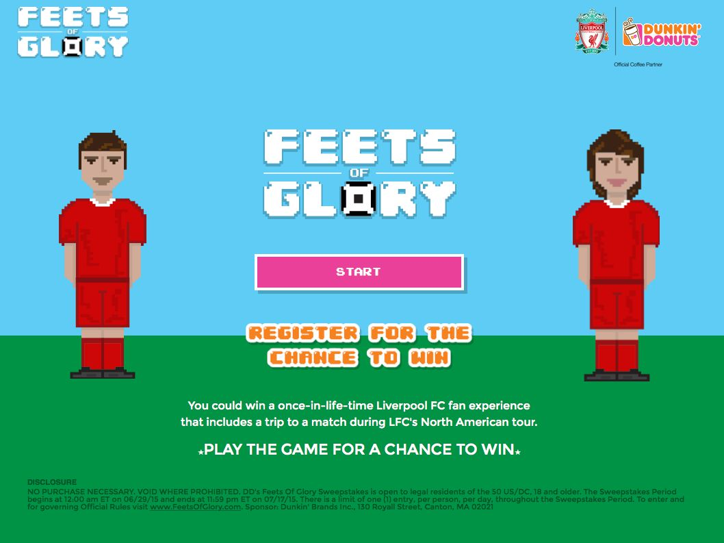 Dunkin Donuts Feets of Glory Sweepstakes