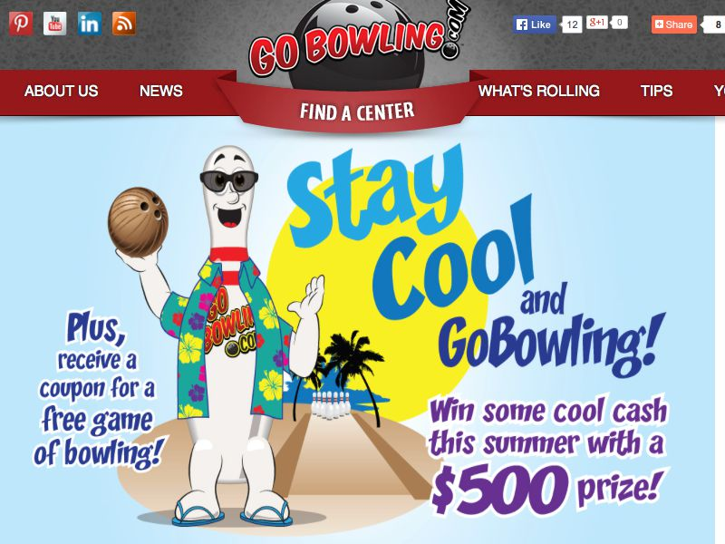 GoBowling.com Stay Cool and GoBowling Sweepstakes