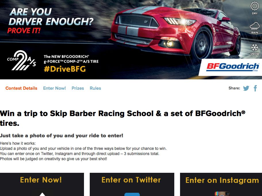"BFGoodrich ""Are You Driver Enough?"" Contest"