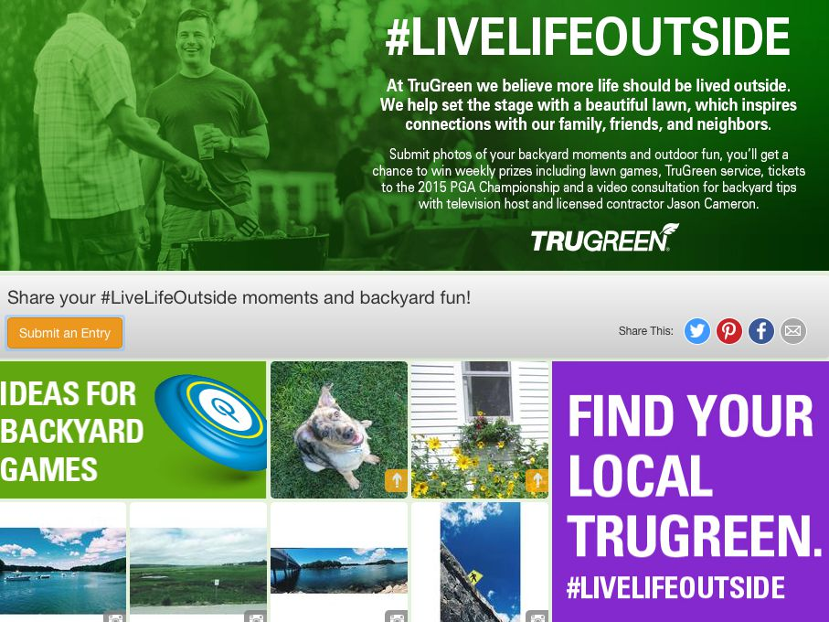 TruGreen LiveLifeOutside Summer Sweepstakes