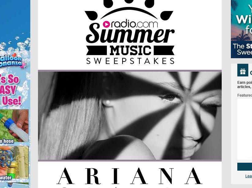 The Radio.com Ariana Grande Summer Music Sweepstakes